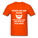 Beards Are Like Boobs Even The Small Ones Are Fun to Play With Men's T-Shirt - orange