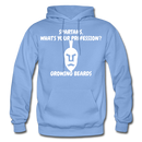 Spartans, What's Your Profession? Growing Beards Hoodie - carolina blue