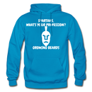 Spartans, What's Your Profession? Growing Beards Hoodie - turquoise
