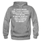 By Odin's Beard And Thor's Hammer 'Whosoever Touch This Beard Hoodie - graphite heather