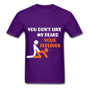 You Don't Like My Beard, F*ck Your Feelings Men's T-Shirt - purple
