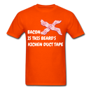 Bacon is the beard's Kitchen Duct Tape  Men's T-Shirt - orange