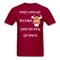 Once You Go Beard, You Never Go Back Men's T-Shirt - dark red