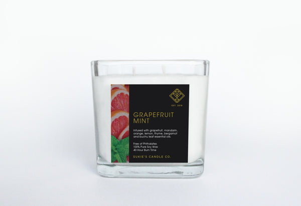 Grapefruit Mint 100% Pure Soy Double Wick Candle