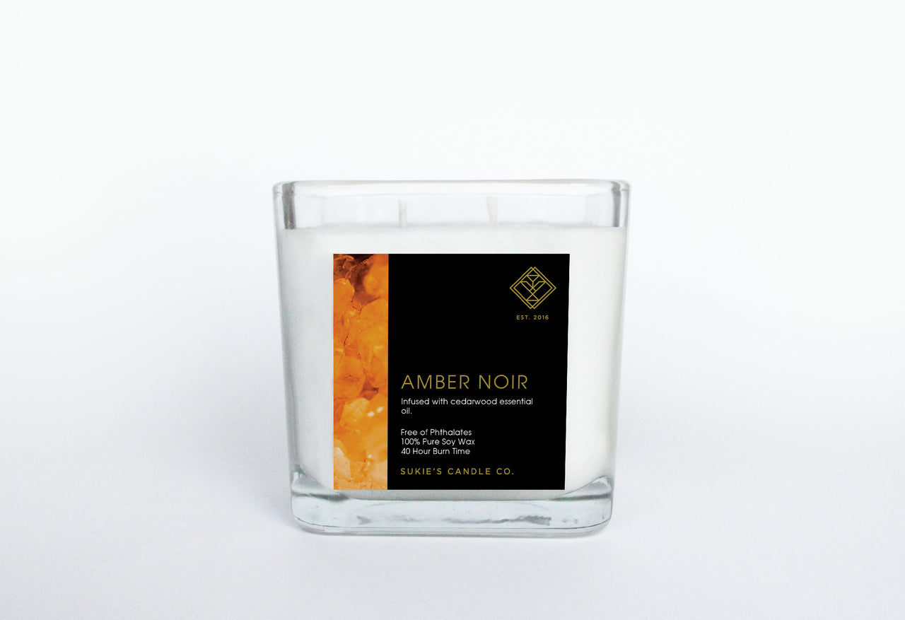 Amber Noir 100% Pure Soy Double Wick Candle