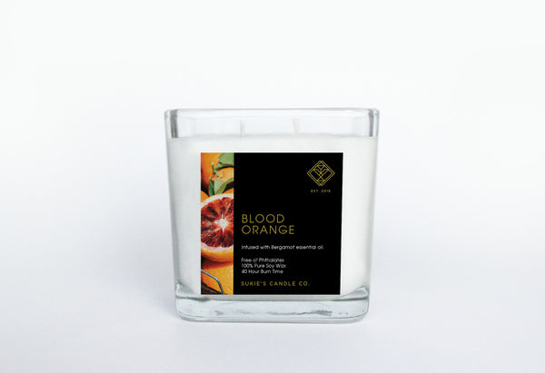 Blood Orange 100% Pure Soy Double Wick Candle