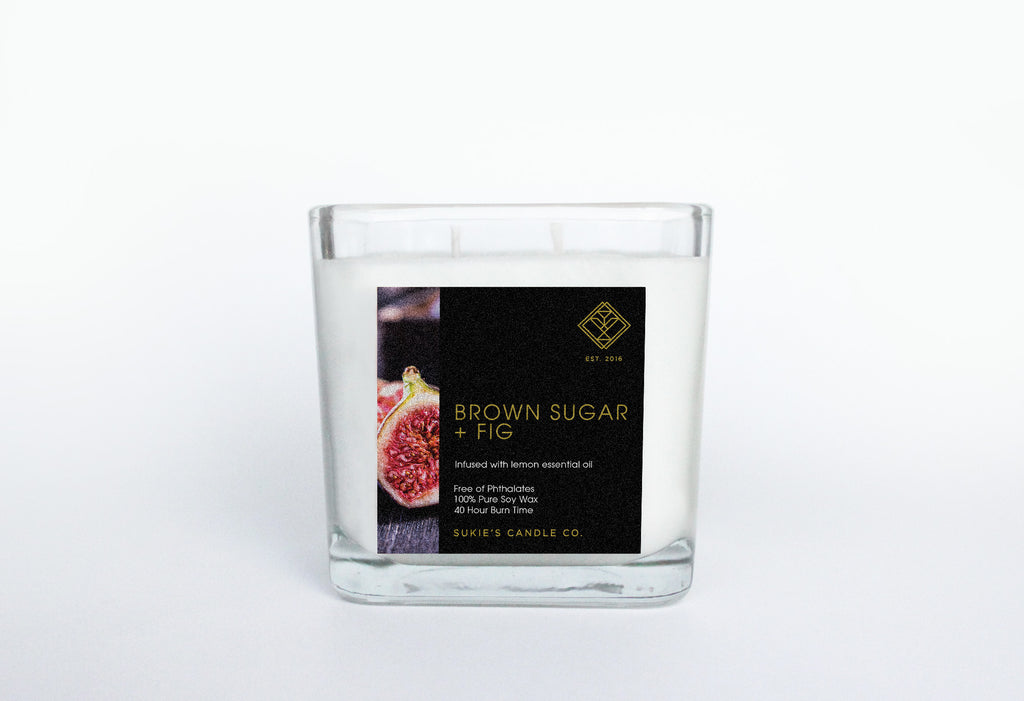 Brown Sugar + Fig 100% Pure Soy Double Wick Candle
