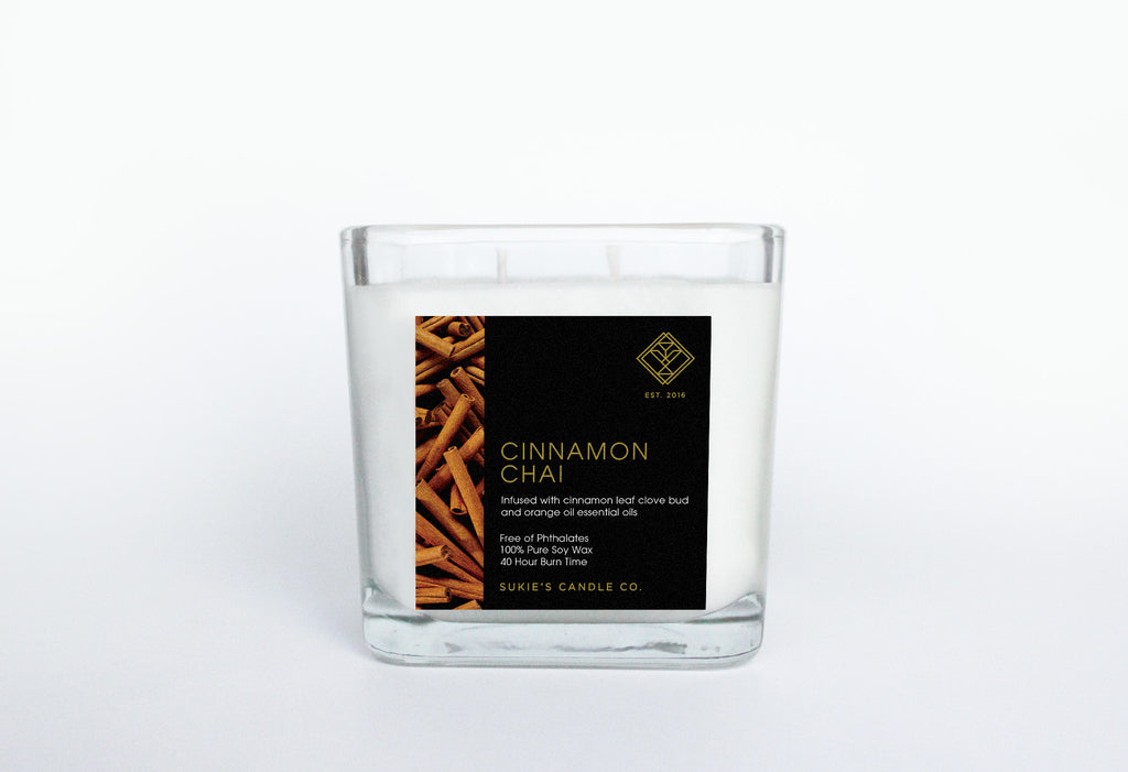 Cinnamon Chai 100% Pure Soy Double Wick Candle