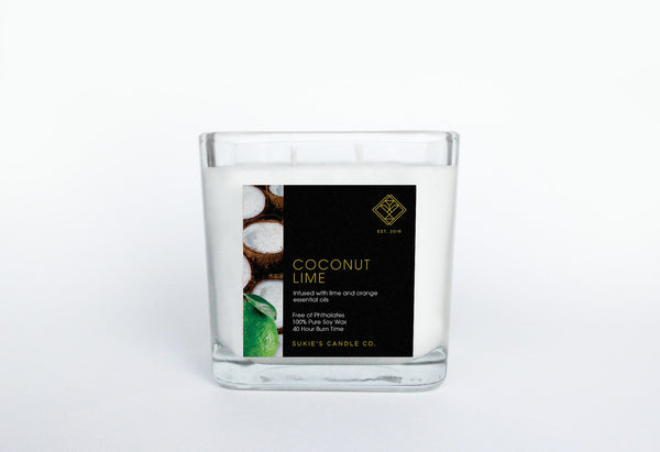 Coconut Lime 100% Pure Soy Double Wick Candle