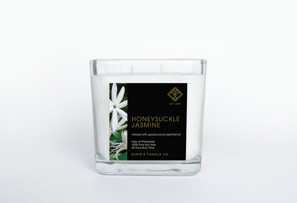 Honeysuckle Jasmine 100% Pure Soy Double Wick Candle