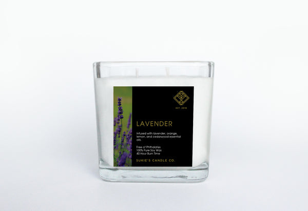 Lavender 100% Pure Soy Double Wick Candle