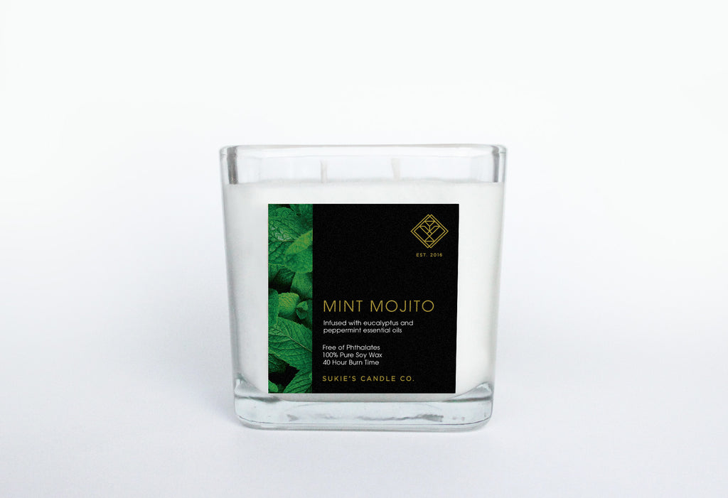 Mint Mojito 100% Pure Soy Double Wick Candle