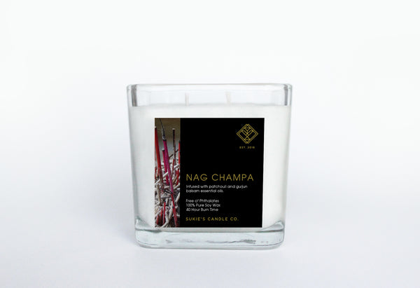 Nag Champa 100% Pure Soy Double Wick Candle