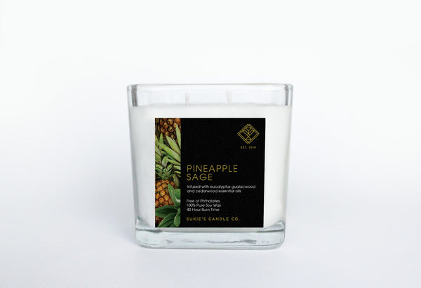 Pineapple Sage 100% Pure Soy Double Wick Candle