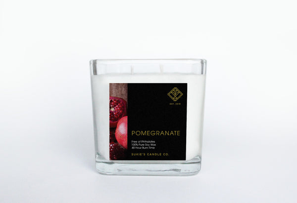 Pomegranate 100% Pure Soy Double Wick Candle