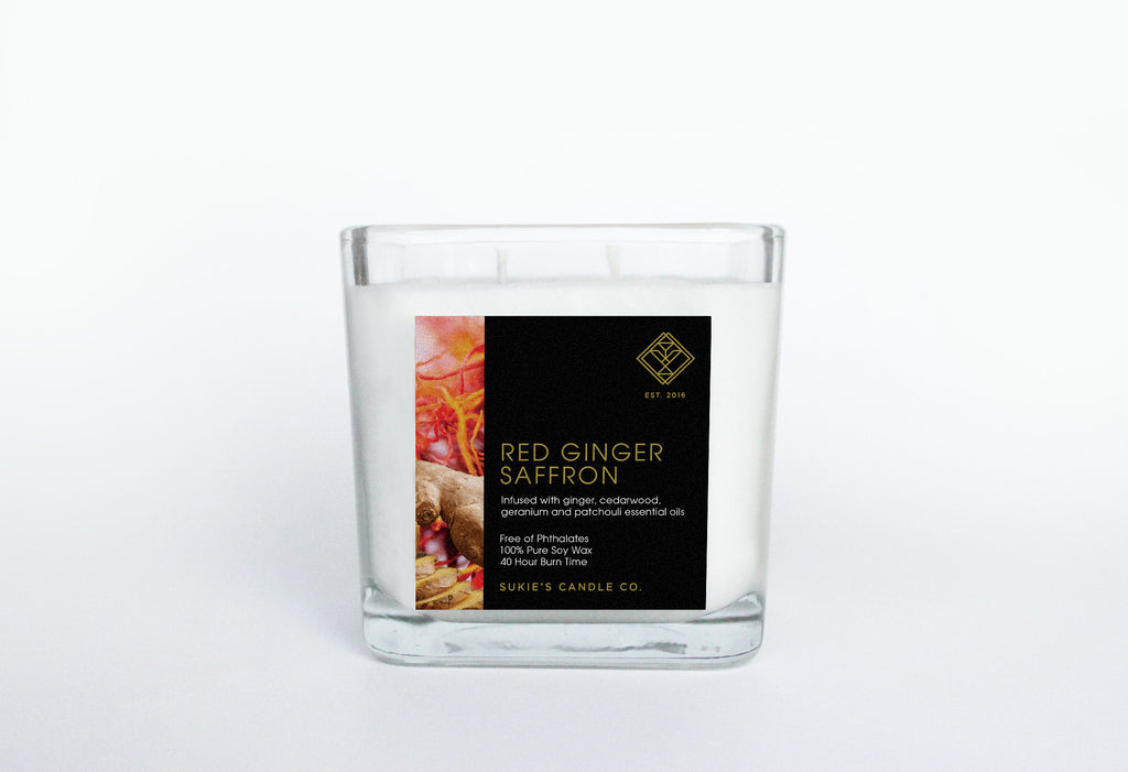 Red Ginger Saffron 100% Pure Soy Double Wick Candle