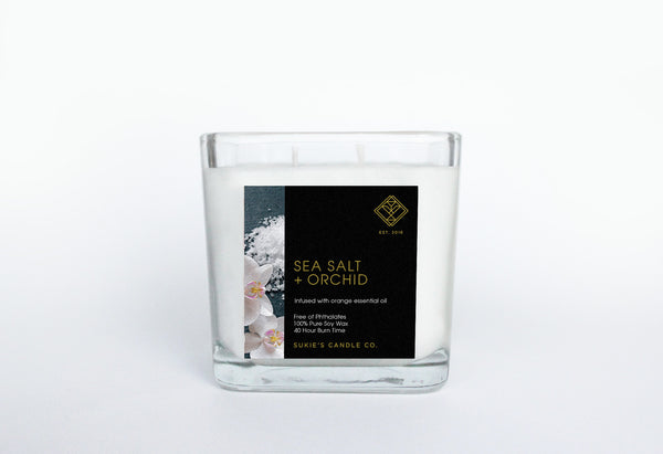 Sea Salt + Orchid 100% Pure Soy Double Wick Candle