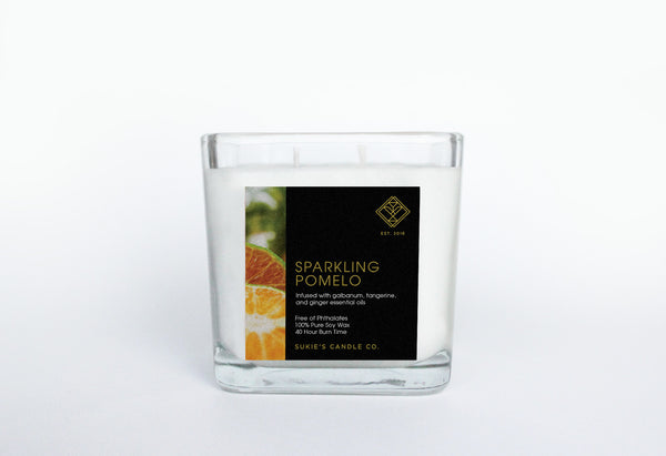 Sparkling Pomelo 100% Pure Soy Double Wick Candle