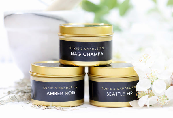 Amber Noir 100% Pure Soy Travel Size Candle