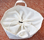 Canvas Laundry Bag with Handles - Collapsible and Foldable
