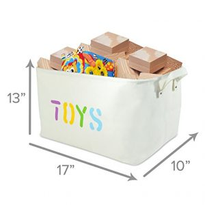 Canvas Toys Basket with Handles - Multi Color