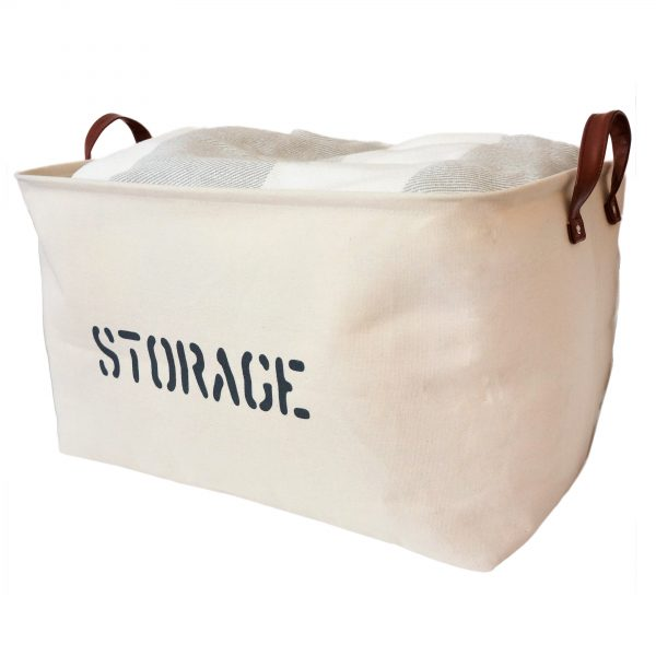 Natural Canvas Storage Basket