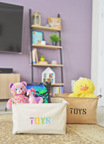 Jute Toys Storage Basket with Handles