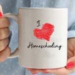 """I Love Homeschooling"" Coffee/Tea Mug"