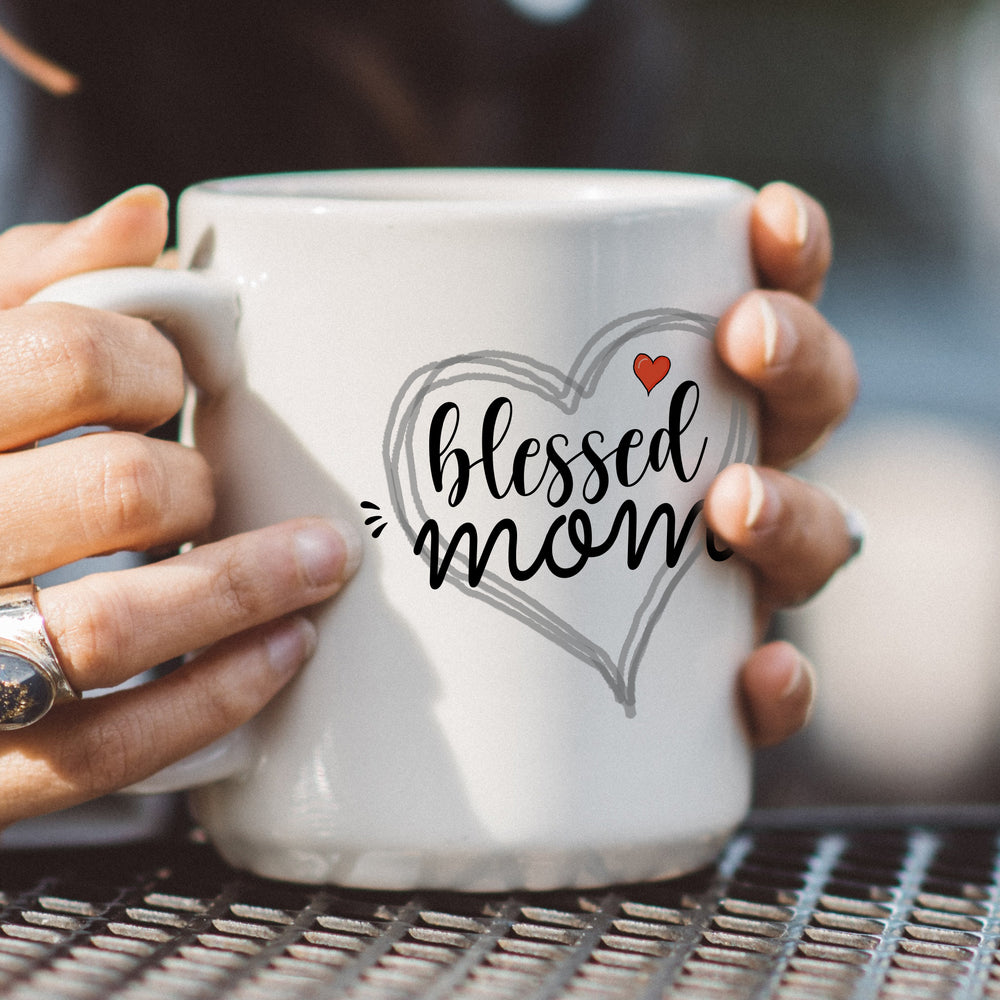 """Blessed Mom"" Coffee Mug"