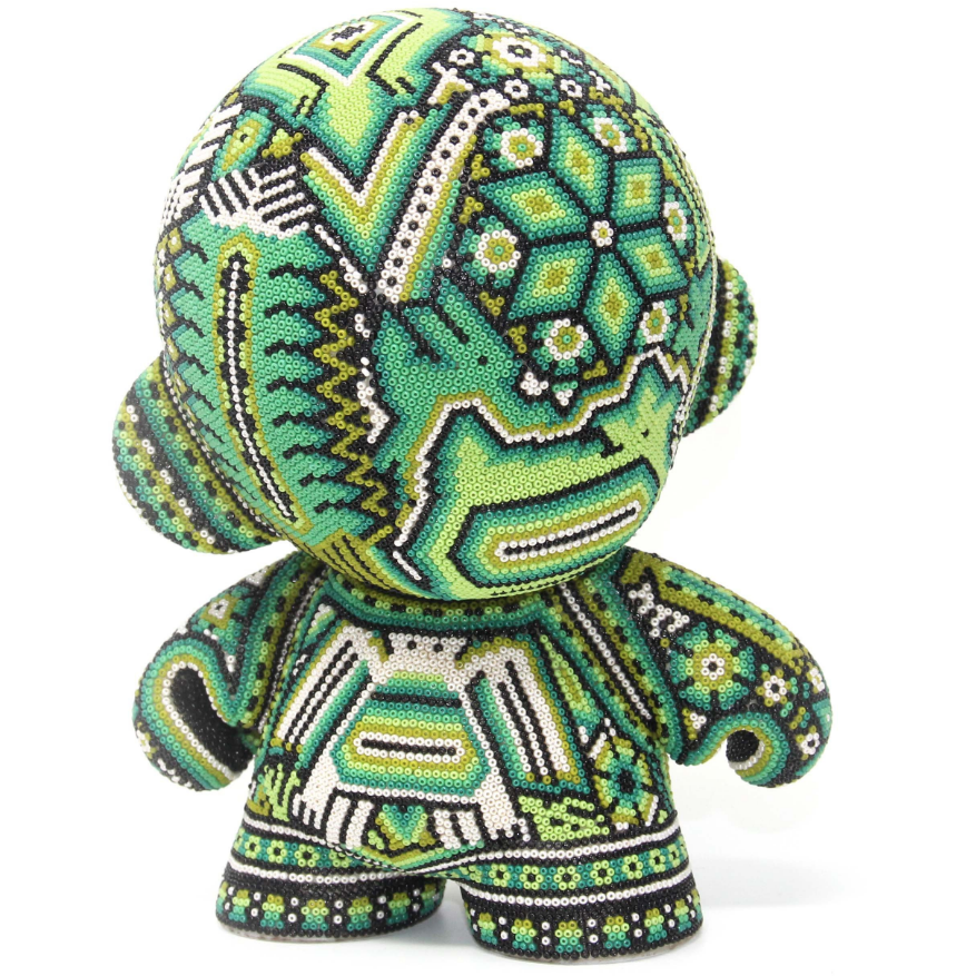 "GREEN MUNNY AUTHENTIC SPECIAL EDITION   7"" - Crystal Bead Munny - Hikkuri Casa - Mr. Hikkuri"