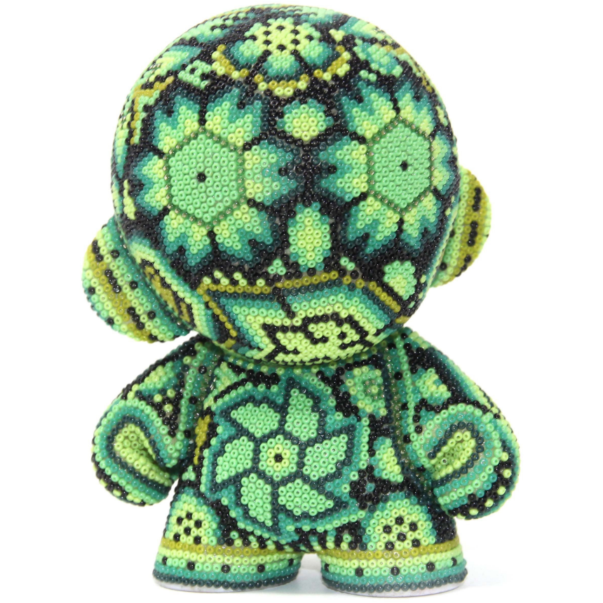 "GREEN MUNNY AUTHENTIC SPECIAL EDITION   4"" - Crystal Bead Munny - Hikkuri Casa - Mr. Hikkuri"