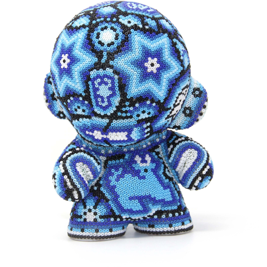 "BLUE MUNNY AUTHENTIC SPECIAL EDITION   4"" - Crystal Bead Munny - Hikkuri Casa - Mr. Hikkuri"