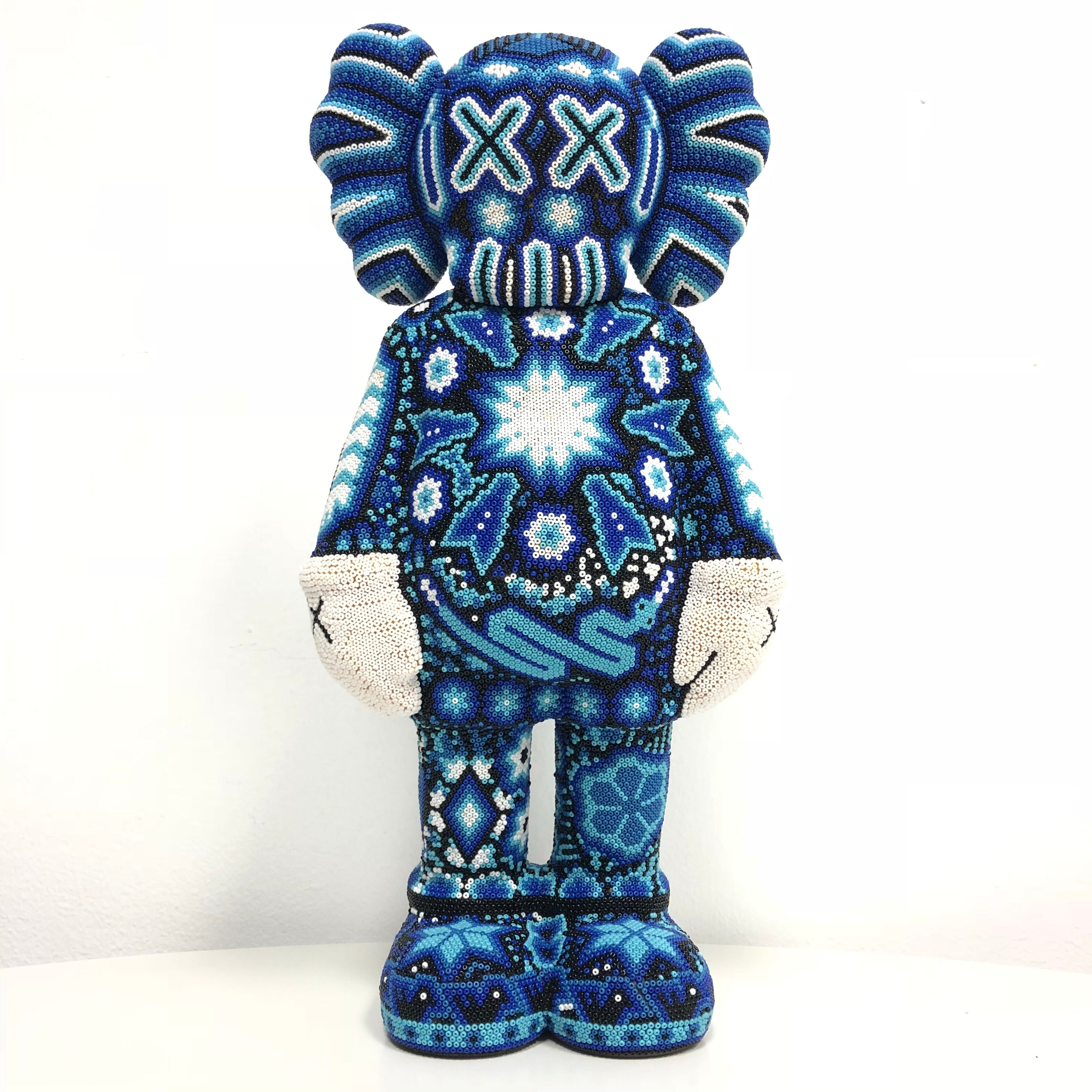 Kaws Inspired Blui - Hand Made - Beaded One By One - INSPIRES BASED KAWS - Hikkuri Casa - Mr. Hikkuri