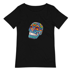Colori Skull Men's Raw Neck Tee -  - Hikkuri Casa - Mr. Hikkuri