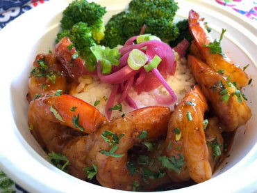 26. Honey Chipotle Shrimp Bowl