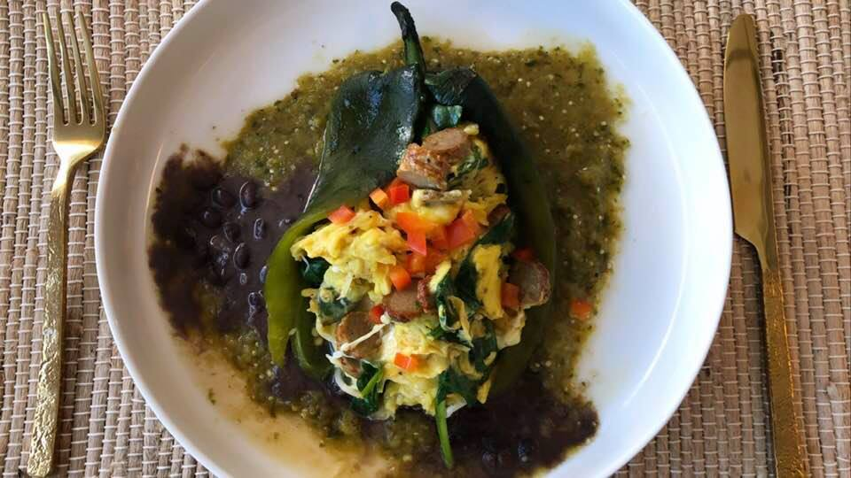 Breakfast Stuffed Poblano