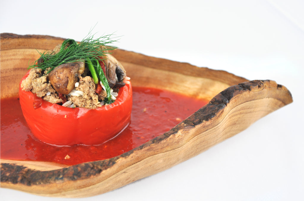 09. Turkey and Couscous Stuffed Pepper