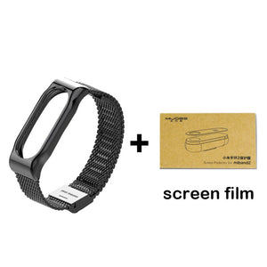 Original Mijobs Metal Strap For Xiaomi Mi Band 2 Strap Stainless Steel Bracelet Wristbands Replace Accessories For Mi Band 2