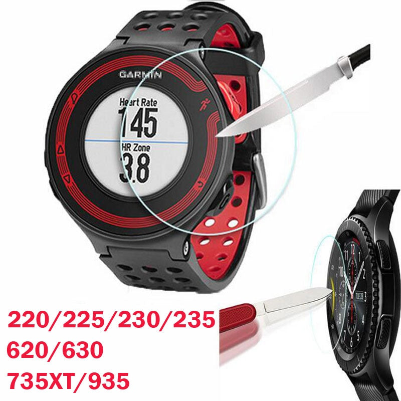 Tempered Glass Protective Film Clear Guard For Garmin Forerunner 220 225 230 235 620 630 735XT 935 Watch Screen Protector Cover