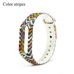 Fashion Colorful Varied Flowers Miband 2 Strap Silicone wristband Replacement pulsera correa mi band 2 straps for xiaomi mi 2