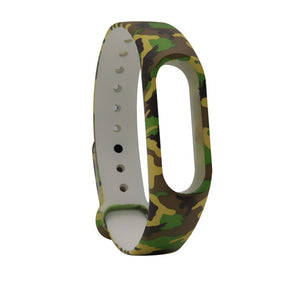 Hot Blue Camouflage For Mi Band 2 Strap Replace Band For Xiaomi  Smart Wristband Silicone Strap Belt for Miband 2 Bracelet