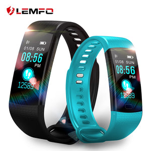 LEMFO Smart Watch Fitness Bracelet Heart Rate Monitor IP67 Waterproof Color Screen Sport Tracker Watch PK Mi Band 2 3