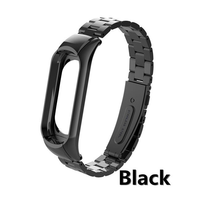 mi band 3 replacement Metal Strap wrist strap Stainless Steel Bracelet Wristbands MiBand 3 strap for Xiaomi mi band 3