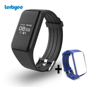 Lerbyee Fitness Tracker  K1 Smart Bracelet Real-time Heart Rate Monitor Smart Watch Activity Tracker for sport iOS Android