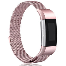 JKER Stainless Steel Magnetic Milanese Loop Band for Fitbit Charge 2 Replacement Wristband Strap for Fitbit Charge 3 Watchband