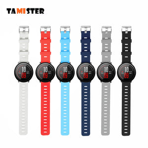 TAMISTER Smart Accessories for Amazfit Stratos 2S Strap 22mm Band for Xiaomi Watch 1 2 Amazfit Pace Pure Color Replacement Band