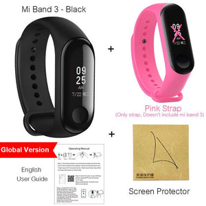 "Xiaomi Mi Band 3 Miband 3 Smart Wristband With 0.78"" OLED Touch Screen Waterproof Heart Rate Fitness Tracker Smart Bracelet"