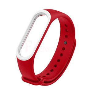 Double Color for Xiaomi Mi Band 3 Sport Strap Silicone wrist strap For xiaomi mi band 3 accessories bracelet Miband 3 Strap new