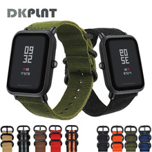DKPLNT Colorful nylon Watchband Replacement for Amazfit Bip for Xiaomi Huami Amazfit Band Bracelet Huami Wrist Strap 20mm