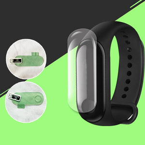 2Pcs Screen Protector Film For Xiaomi Mi Band 3 Smart Wristband Bracelet Full Cover Protective Films Not Tempered Glass